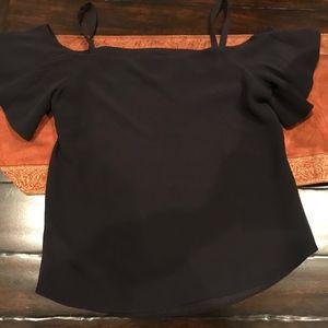 Ann Taylor Factory women's navy top , size S, worn